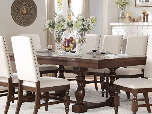 County Cottage Dark Brown Dining Furniture Dining Table