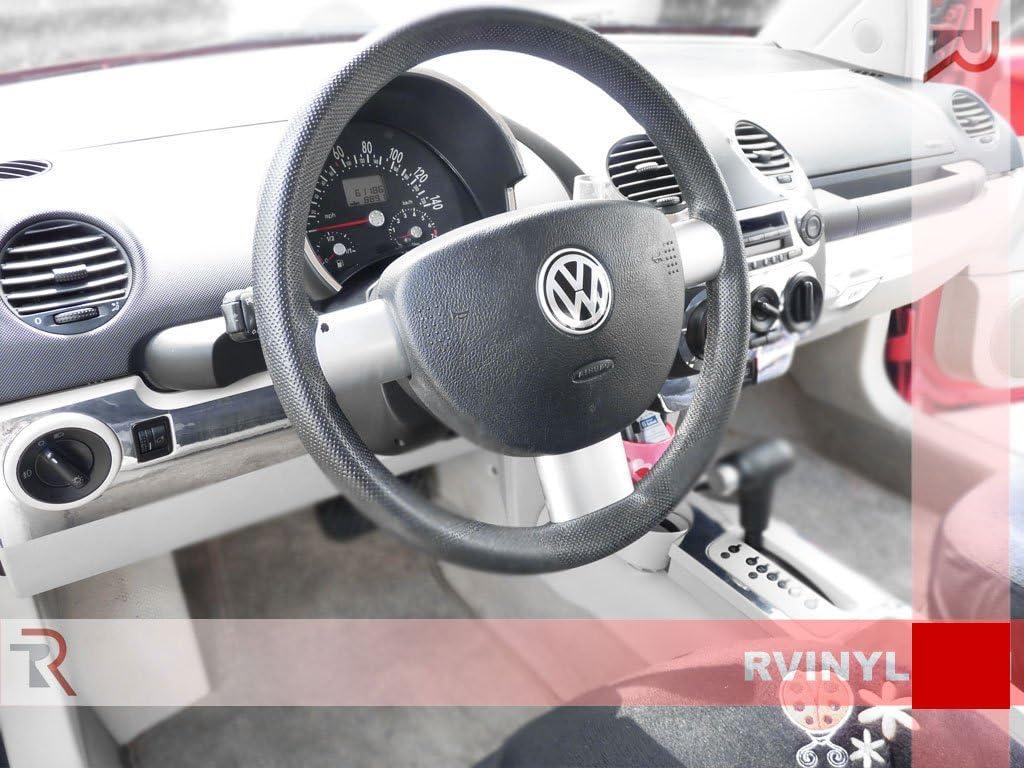 Burlwood Dark Rvinyl Rdash Dash Kit Decal Trim for Volkswagen Beetle 1998-2002 Wood Grain