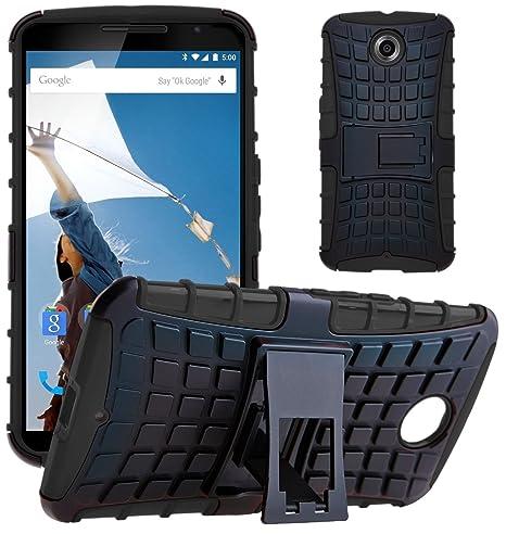 G-Shield Funda para Motorola Google Nexus 6, Carcasa Antigolpes Protectora con Soporte Reforzado, Híbrida Protección, Anti-Arañazos, Absorción de ...