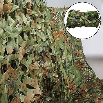 Iraza Red de Camuflaje,Camouflage Net Mallas de Protección Ejército Combate Militar Táctico para Caza al Aire Libre Sombra Proteger del Viento