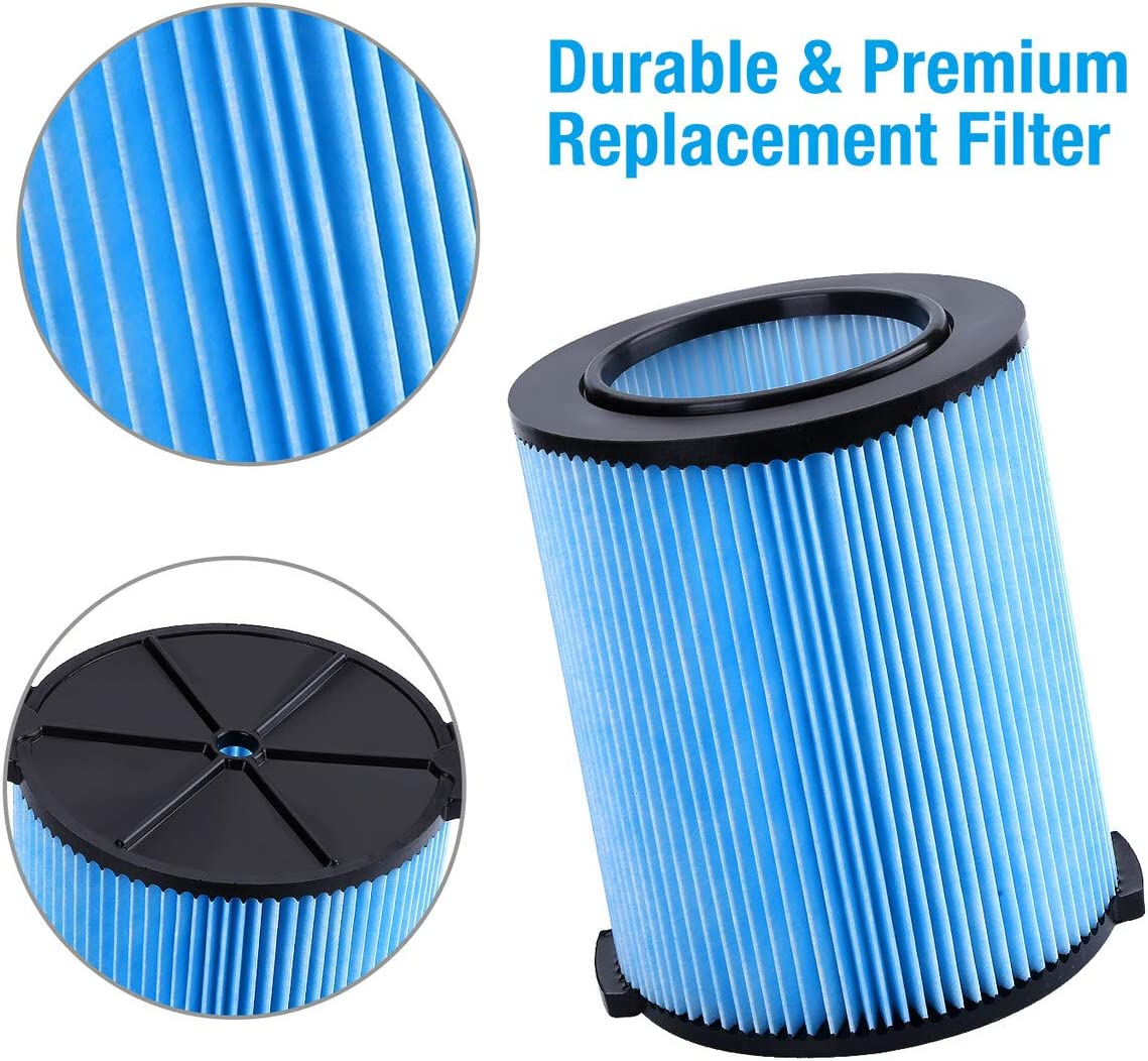 Housmile VF5000 Replacement Filter 3-Layer Pleated Paper Vacuum Filter Fits for