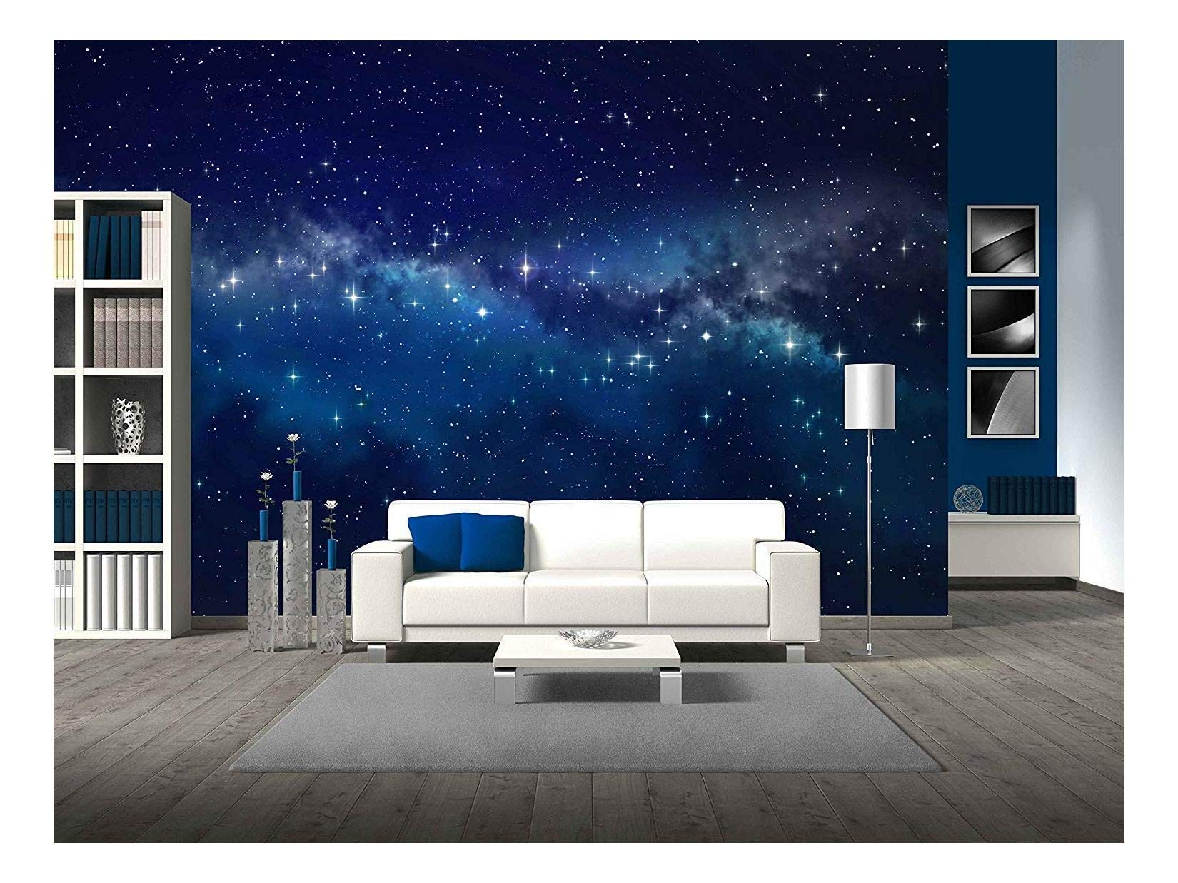 wall26 - Deep Space. High Definition Star Field Background - Removable Wall Mural | Self-Adhesive Large Wallpaper - 100x144 inches by wall26 (Image #1)
