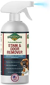 Professional Strength Stain & Odor Remover - Natural Enzyme Cleaner (Bulk 32oz) for Dog & Cat Urine, Waste, Wine, Blood, Vomit, etc. Safe & Effective Pet Smell Eliminator for Carpet, Hardwood & More