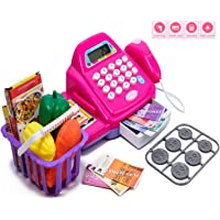 Techno Buzz Deal Play Toys Cash Register Set for Kids with Barcode Scanner, Calculator, Swipe Function