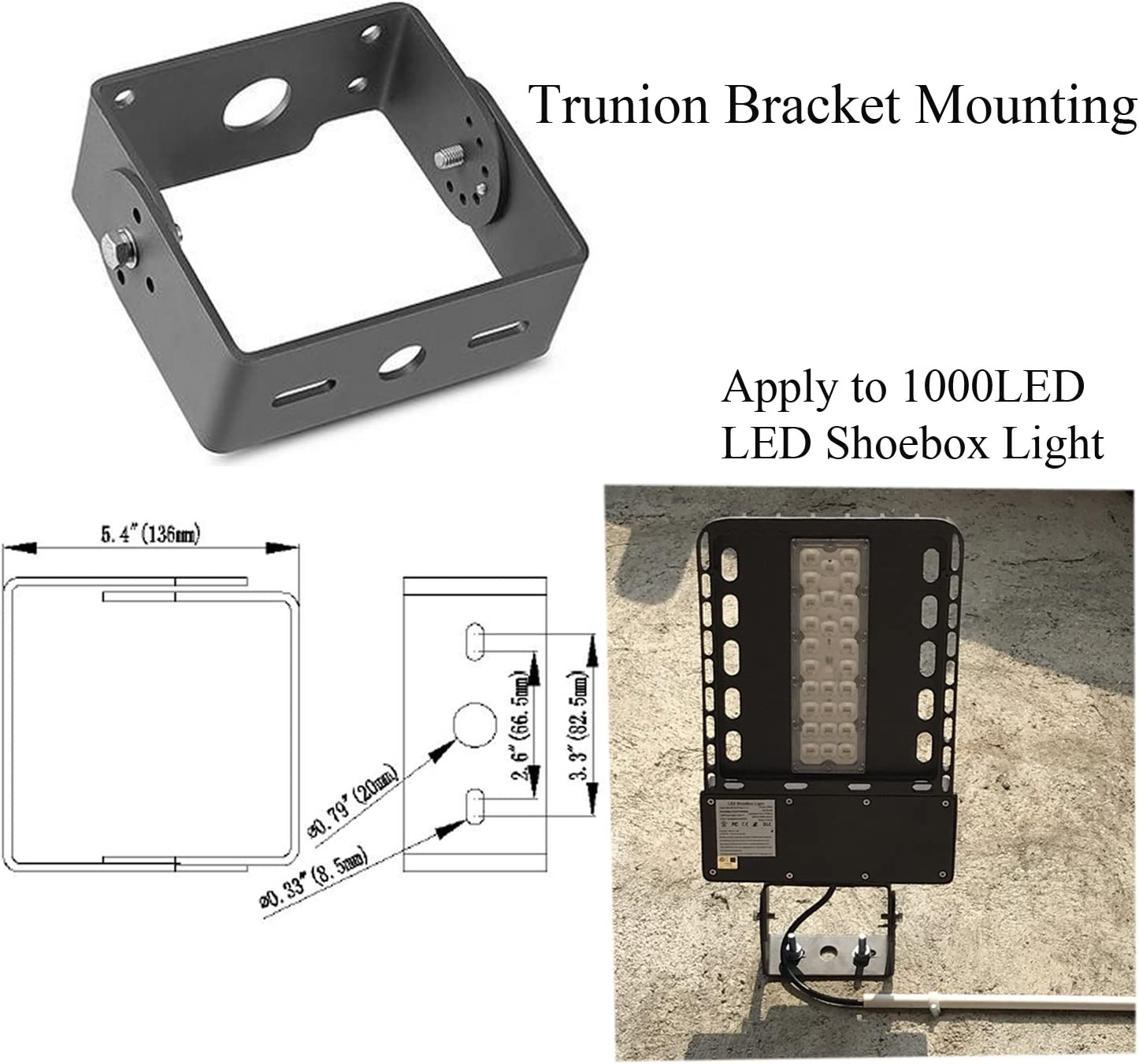Trunnion Shoebox Outdoor Mounting Bracket