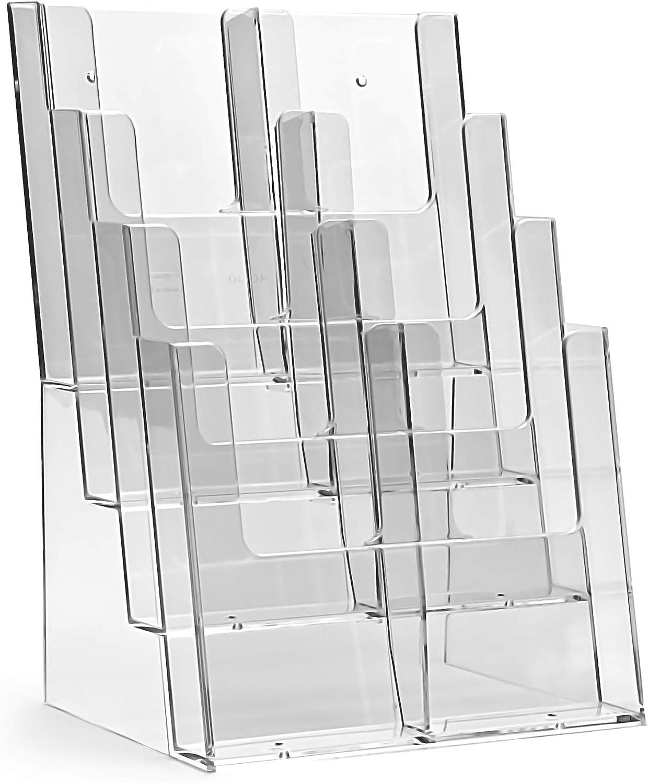 2 x 4 ripiani trasparente Porta biglietti da visita taymar/®