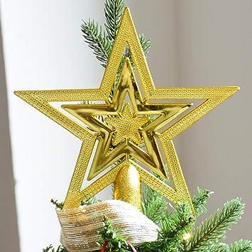 Weihnachtsbaum Stern Christbaumspitze Weihnachtsbaumspitze Spitze Dekoration DE