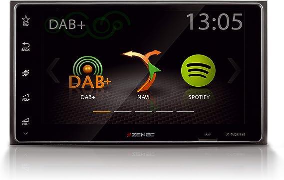 Zenec Z N328 Infotainer 2 Din Mediencenter Multimediasystem Mit 6 2 15 7 Cm Touchscreen Autoradio Mit Dab Bluetooth Usb Spotiy Zum Festeinbau Navi Erweiterbar Navigation