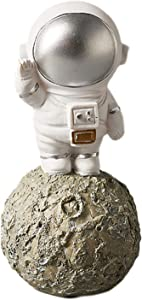 YYDS Spaceman Statue, Space Decor Astronaut Decor Standing Astronaut Statue Desktop Spaceman Sculpture Decorative Kids Boys Room Decor