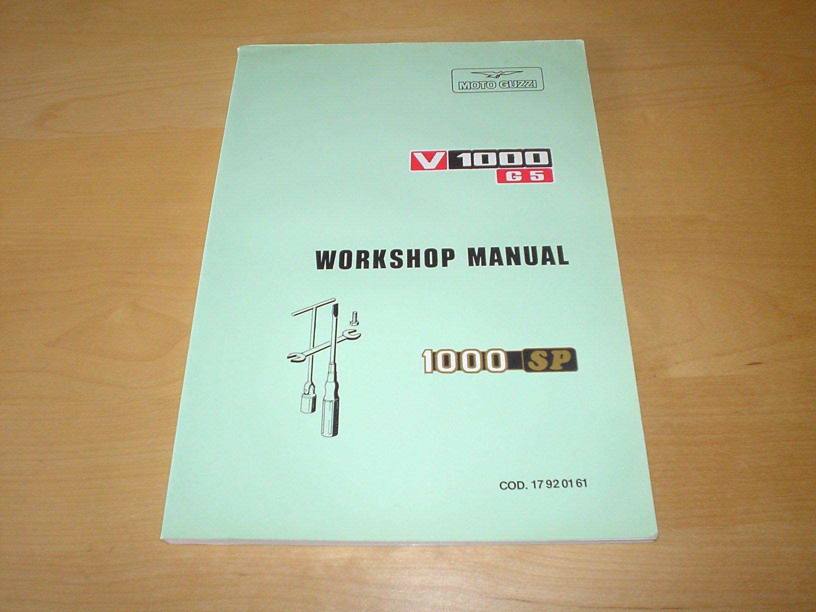 MOTO GUZZI V1000G5 & 1000SP OWNERS WORKSHOP REPAIR MANUAL HANDBOOK - V 1000  G5 SP V1000 V1000 G5 - OWNERS HANDBOOK MANUAL - - BIKE HAND BOOK:  Amazon.co.uk: ...