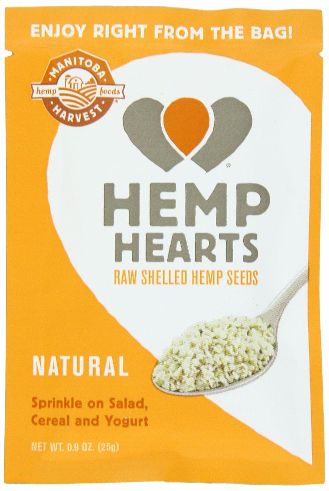Manitoba Harvest Hemp Hearts Raw Shelled Hemp Seeds, 12 Single Serve Packets