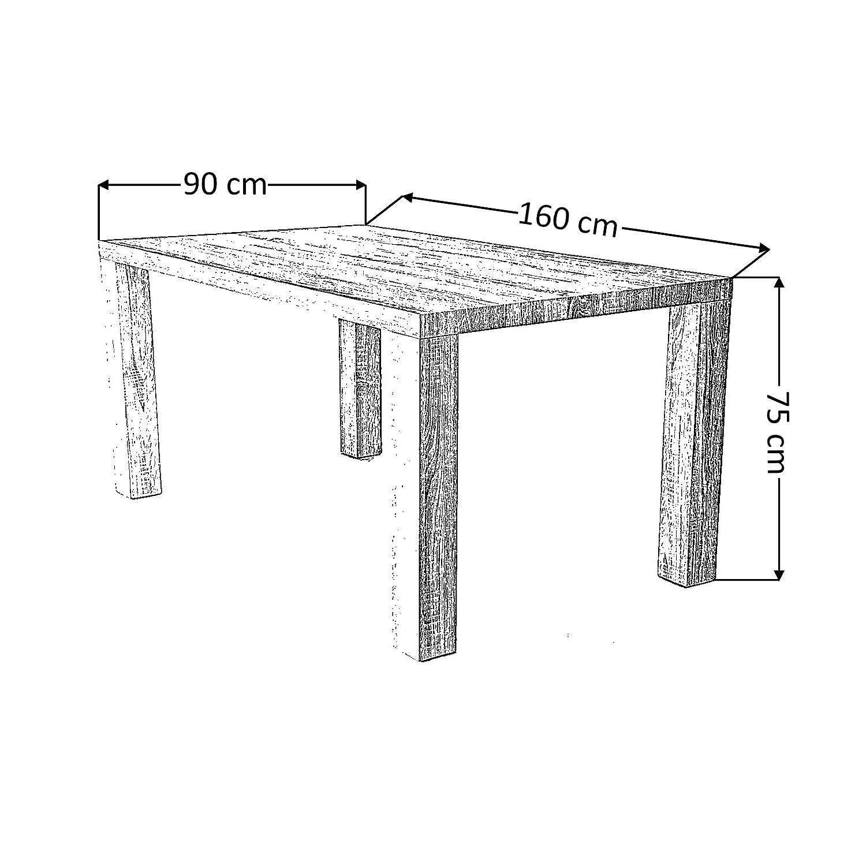 Esstisch/Küchentisch schlicht rustikal Holz in Sonoma-Eichenoptik ...