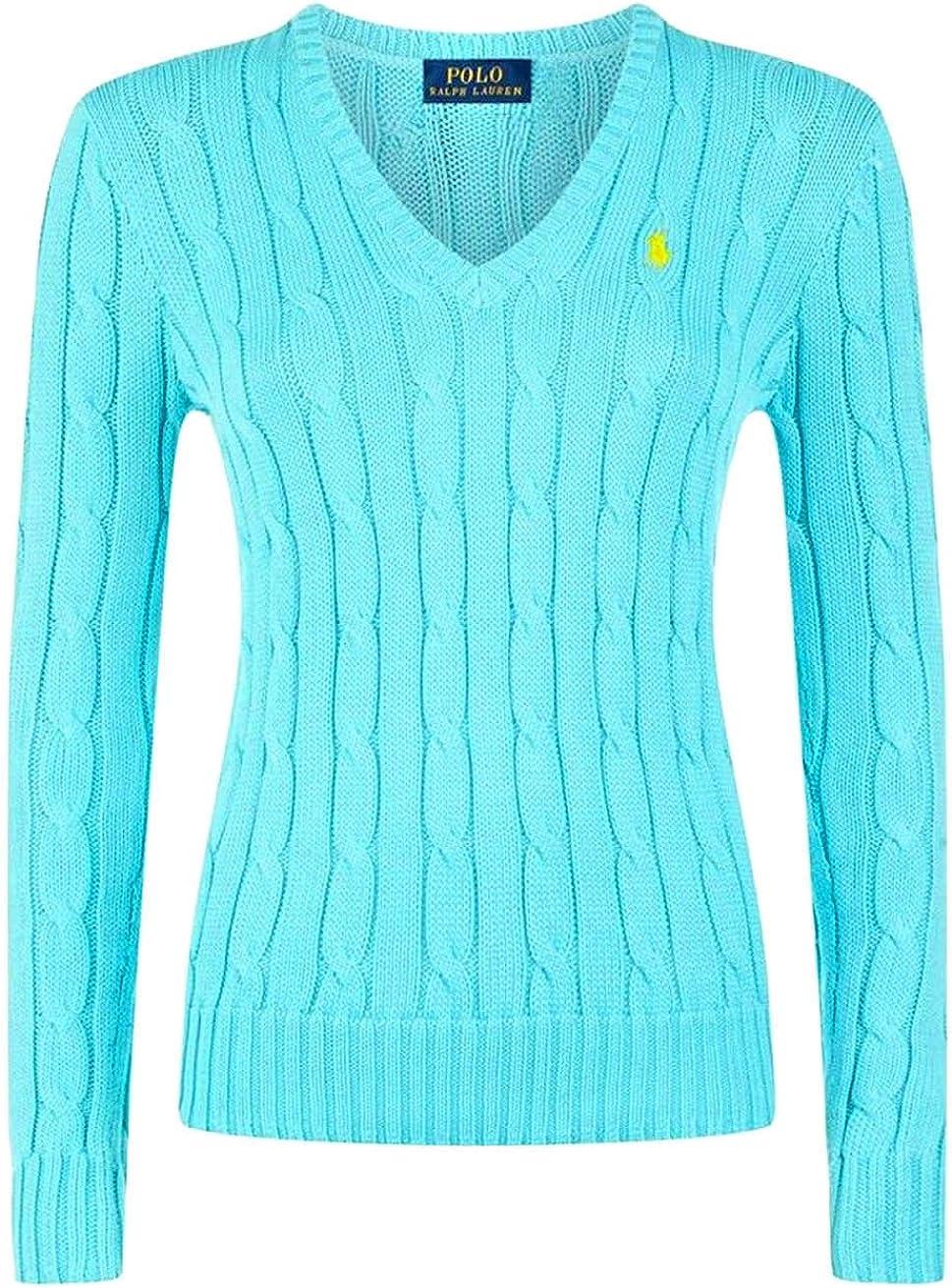 Ralph Lauren Mujer de Cable de Punto suéter, Puentes Punto Polo ...