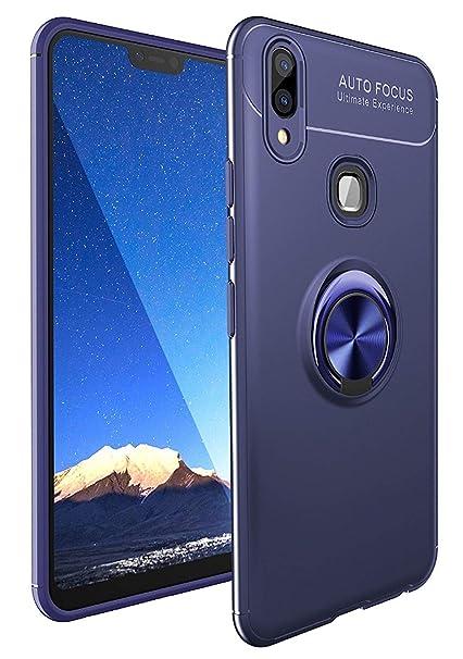Spazy Case® Campatible with Vivo Y93 / Vivo Y91 Back Case Cover Shock Proof  Ring Stand for Vivo Y93 / Vivo Y91-Blue