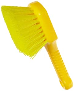 Rubbermaid Commercial 8 Inch Utility Brush, Plastic Handle, Synthetic Fill, Yellow (FG9B2900YEL)