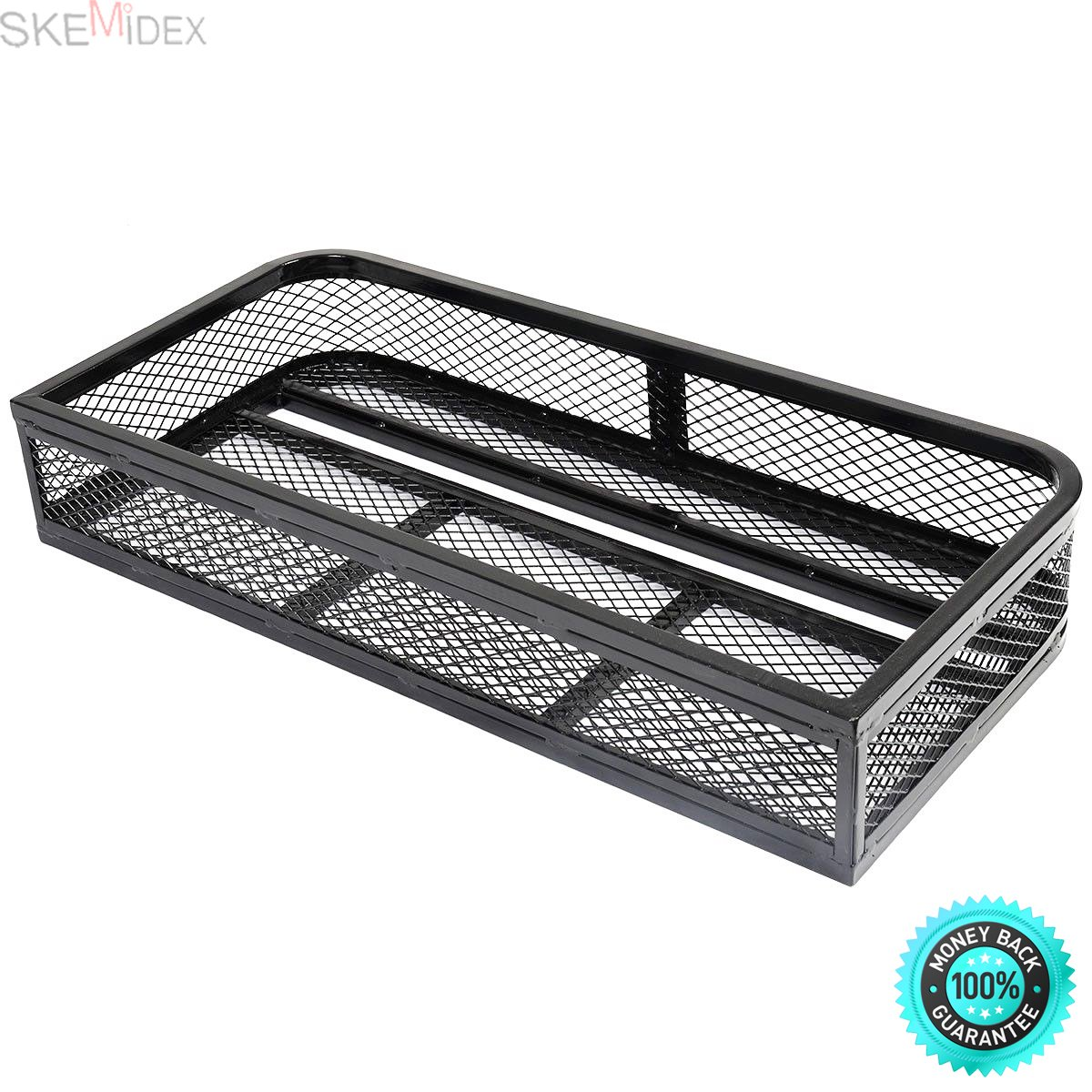 SKEMIDEX---Universal Front Atv Hd Steel Cargo Basket Rack Luggage Carrier Durable powder coated finish to withstand most demanding rides Lightweight design wont tax your ATV's power