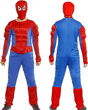 Anladia - Disfraz de Spiderman Cosplay Traje Musculoso con Máscara ...