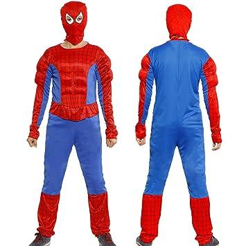 Anladia - Disfraz de Spiderman Cosplay Traje Musculoso con ...