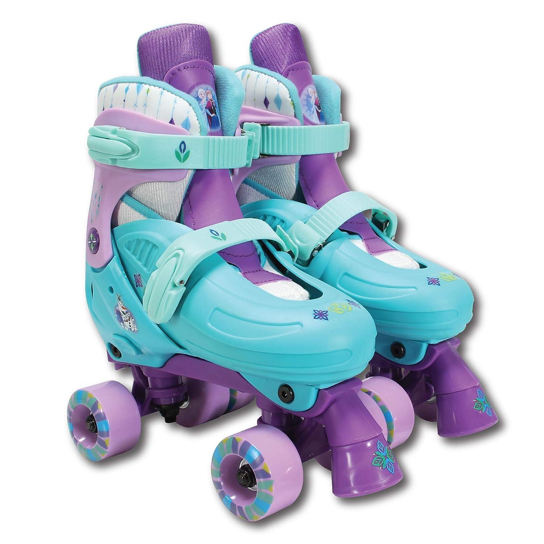 PlayWheels Disney Frozen Classic Quad Roller Skates, Junior Size 1-4