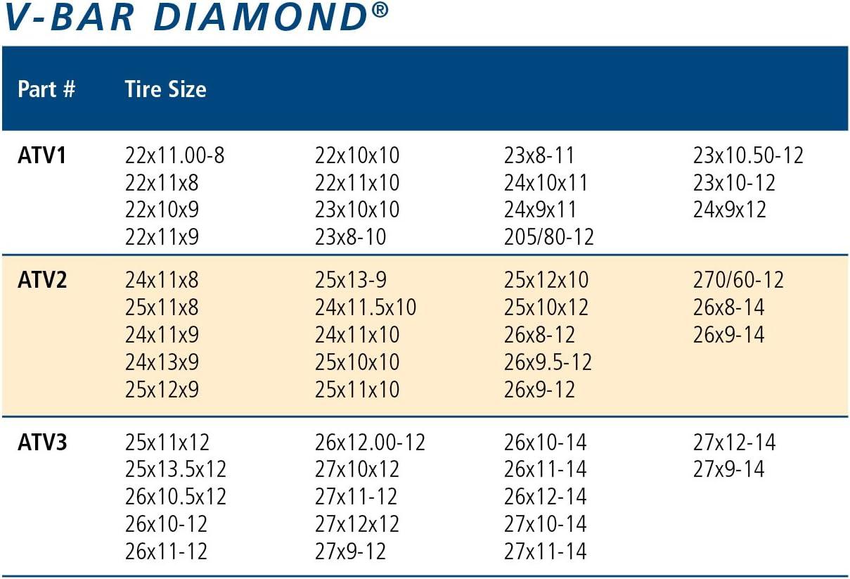 for 2 tires PAIR ICC ATV2 V-Bar Reinforced Diamond Pattern ATV Traction Chain