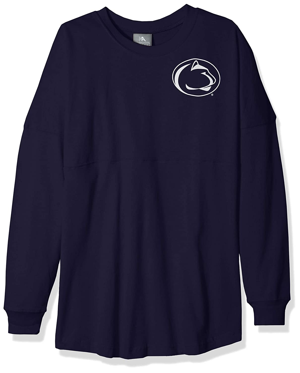 Large NCAA Penn State Nittany Lions Womens NCAA Womens Long Sleeve Mascot Style Teeknights Apparel NCAA Womens Long Sleeve Mascot Style Tee Sports Navy
