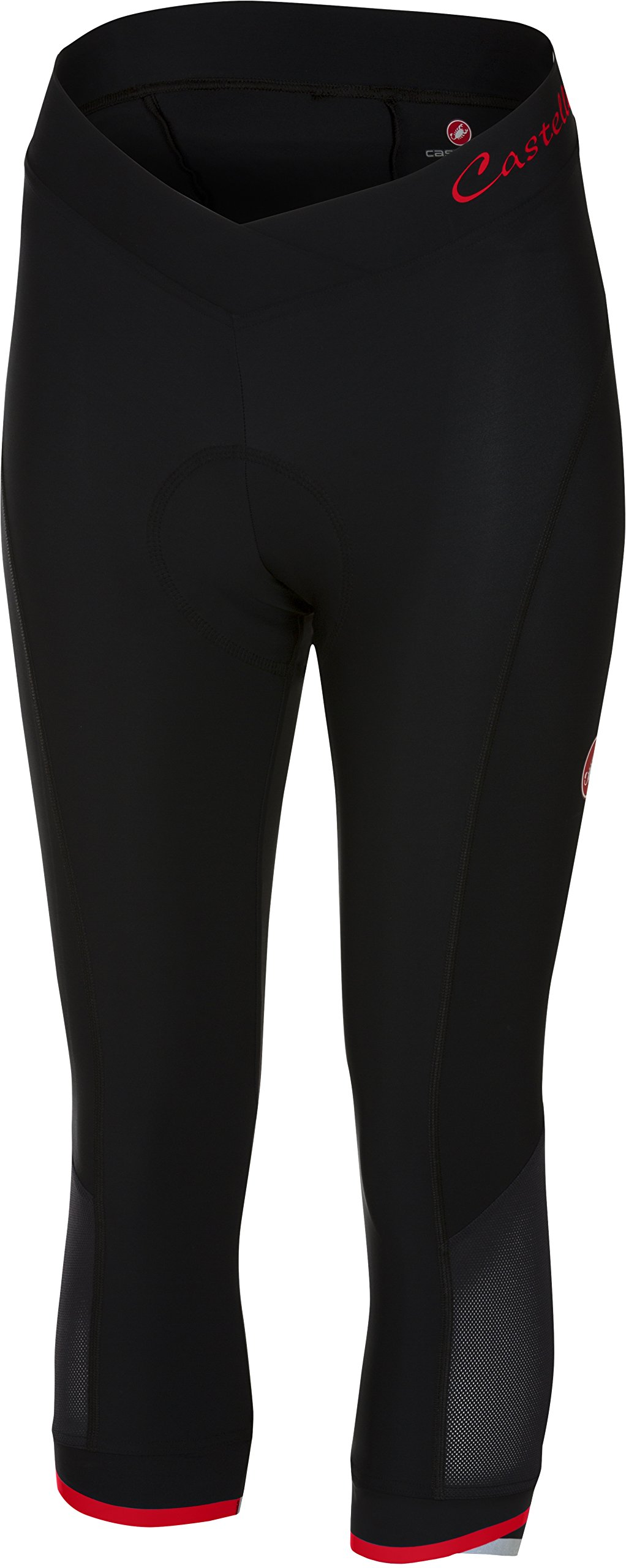 Castelli Vista Knicker - Women's Black/Red, L by Castelli (Image #1)