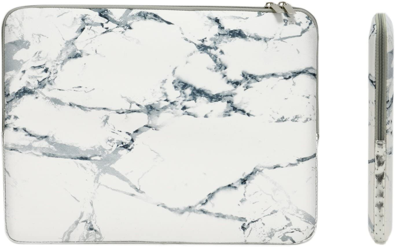TOP CASE - Marble Pattern Zipper Sleeve Bag Compatible with All Laptop 13