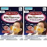 【まとめ買い】めぐりズム 蒸気でホットうるおいマスク 無香料 3枚入×2