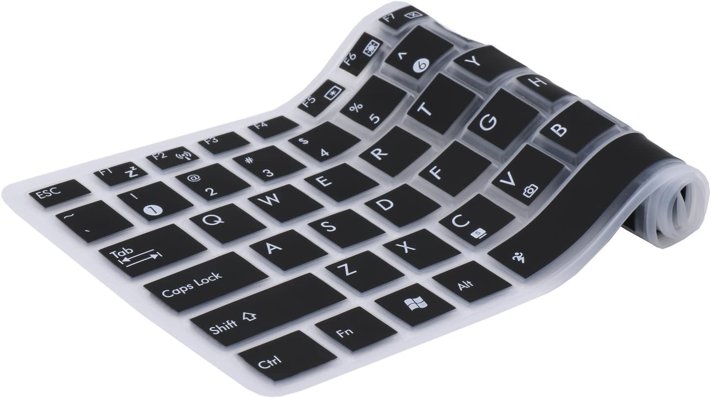 Saco Chiclet Keyboard Skin for HP N208TU Pavilion 15/  Black with Clear