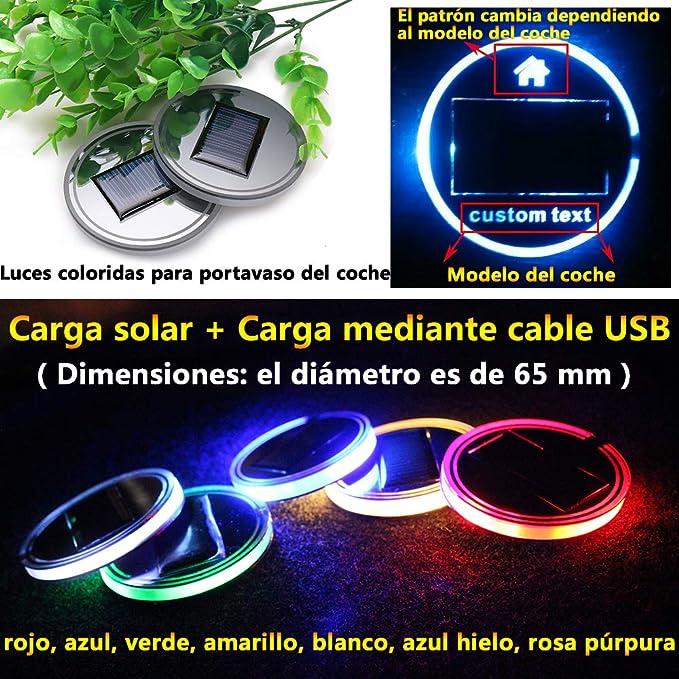 Un) Energía solar Luz ambiental para bordes Accesorios para coche ...