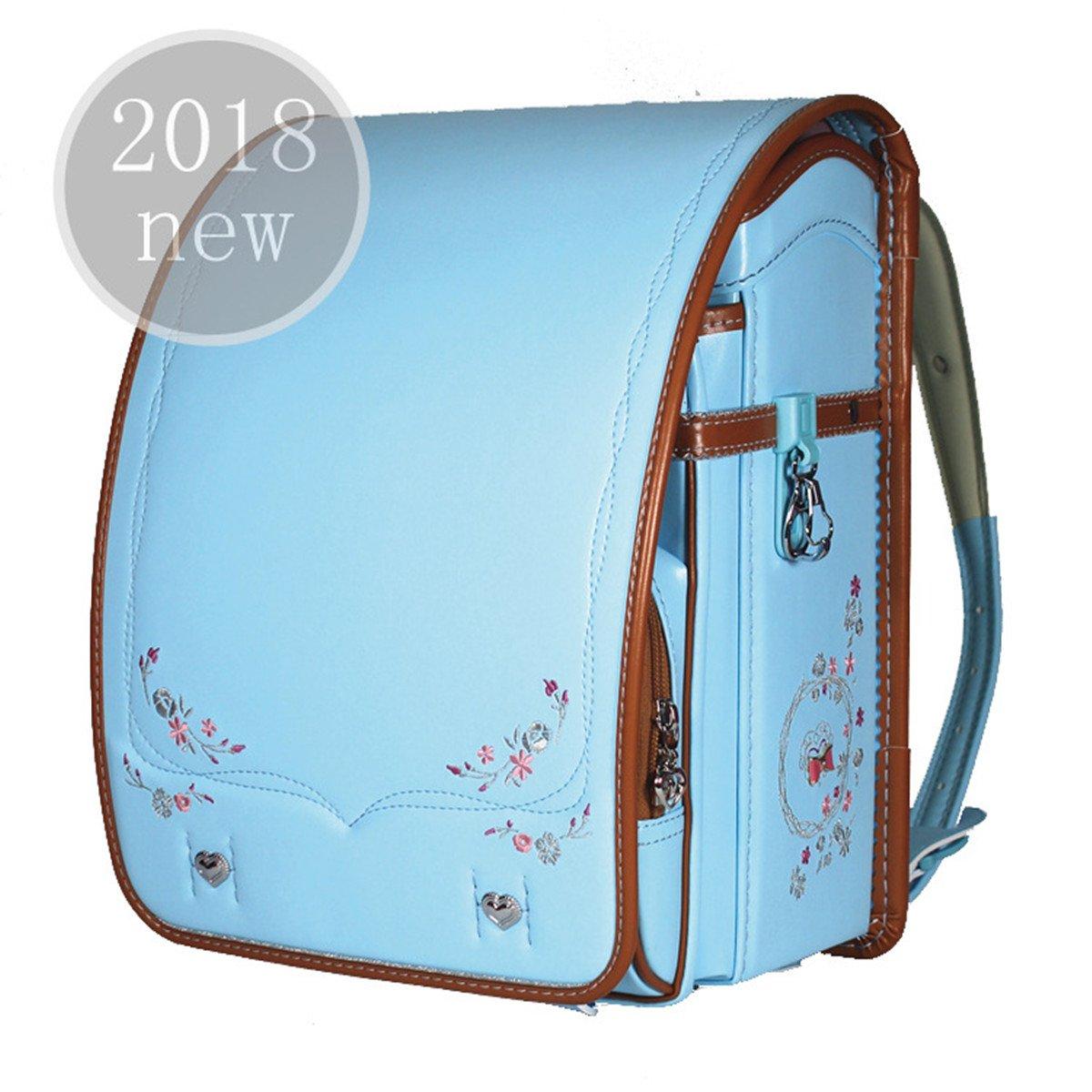 軽量 豪華 刺繍 ランドセル 女の子 高級合皮 手縫い 自動ロック 大容量 A4フラットファイル対応 6年間保証 【バオバブの願い】 (プリンセス ブルー) B074XZWZ2G プリンセス ブルー プリンセス ブルー