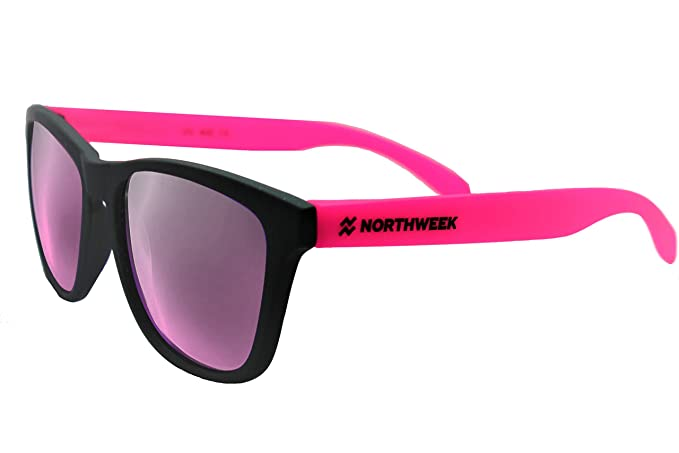 "Gafas de sol Northweek ""CUSTOMIZE IT! "" Matte black - rosa fluor"