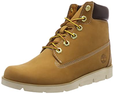 04d1a3e6357e Timberland Youth Radford 6-Inch Wheat Nubuck Boots 4 US Brown