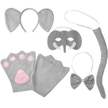 dressforfun 302035 -Accesorios de Disfraces Kit Elefante Niño Incluye Diadema con Orejas y Máscara con Trompa y Colmillos: Amazon.es: Productos para ...