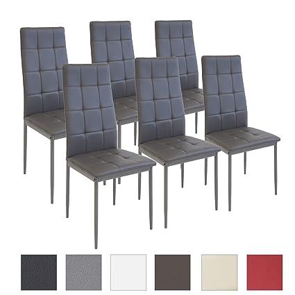 Albatros sedia per sala da pranzo RIMINI, Set di 6 sedie, grigio ...