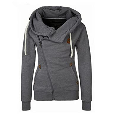 Coumll Winter Autumn Hoodies Sweatshirts Long Sleeve Hooded Jacket Warm Sudaderas Black S