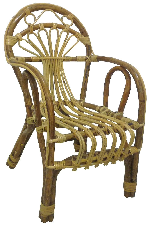 SAVINO FILIPPO SRL Poltroncina sediolina sedia bimbo baby in vimini bambù rattan naturale e giunco Sole