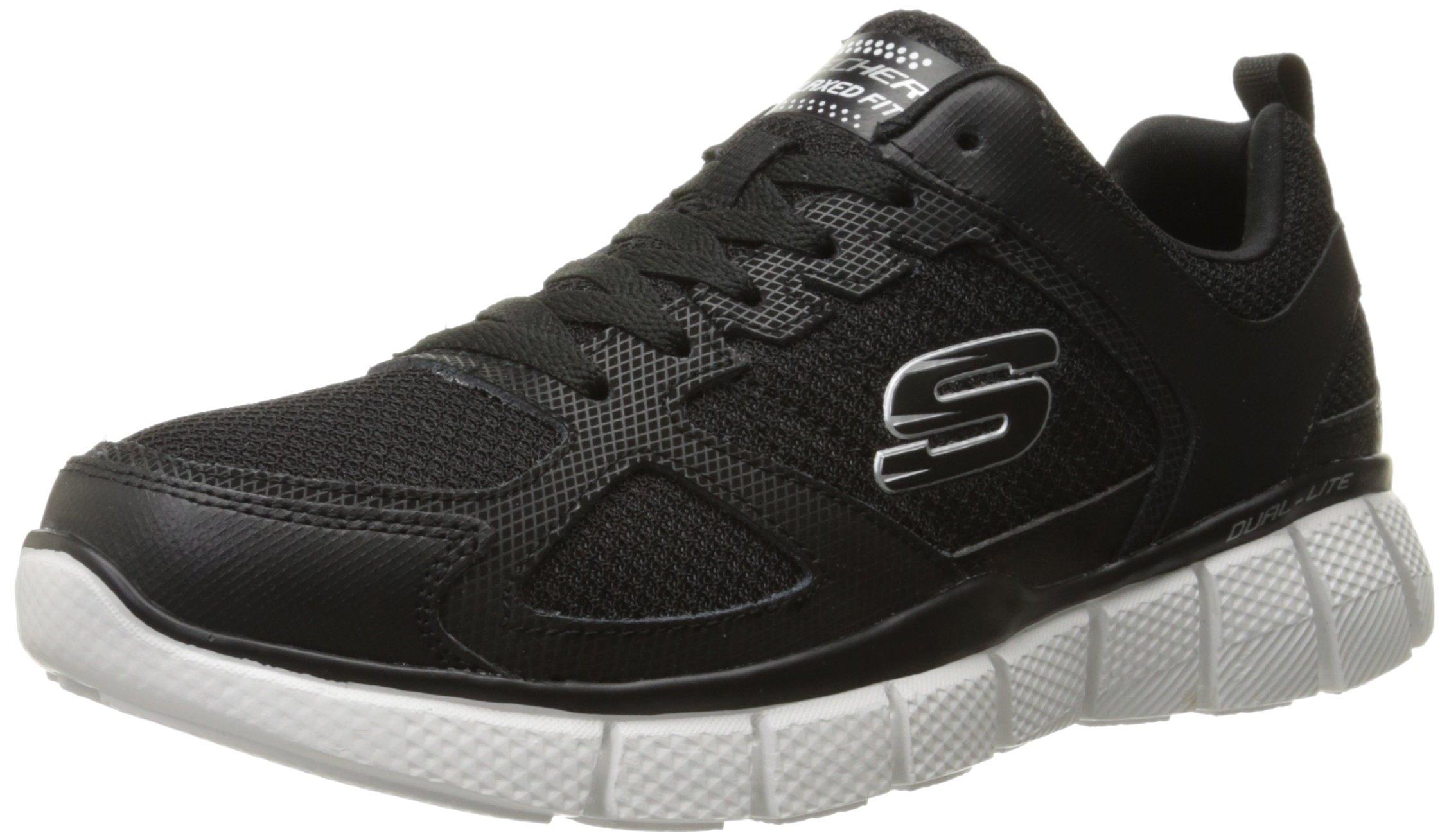 Skechers Sport Men's Equalizer 2.0 True Balance Sneaker,Black/White,7 M US