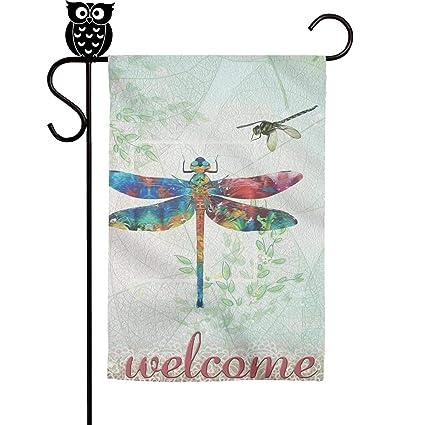 12.5X18 SUMMER Spring BeAutiful  Dragonfly GARDEN  FLAG