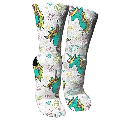 Amazon.com: Colorido patrón de dibujos de unicornio loco ...