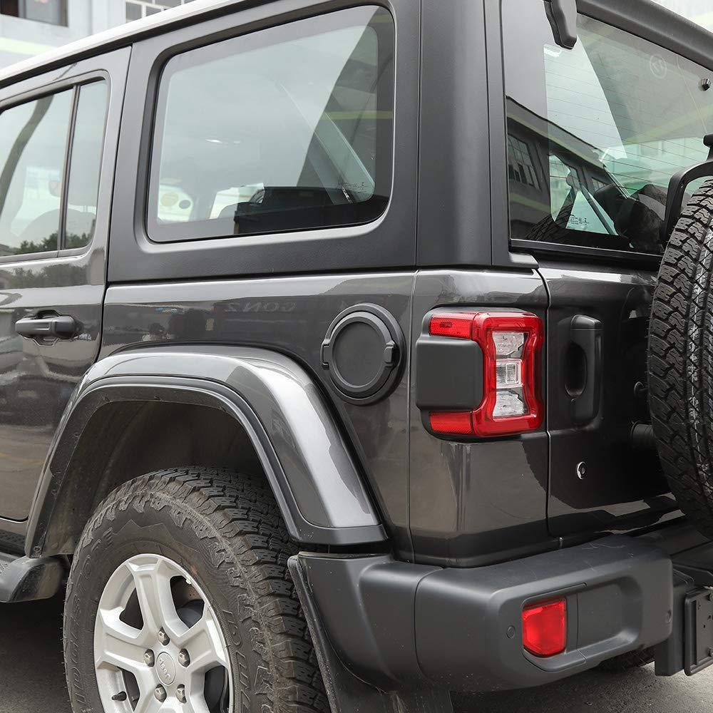 Fuel Filler Door Cover Gas Tank Cap For 2018 Jeep Wrangler JL Unlimited 2//4 Door Voodonalas