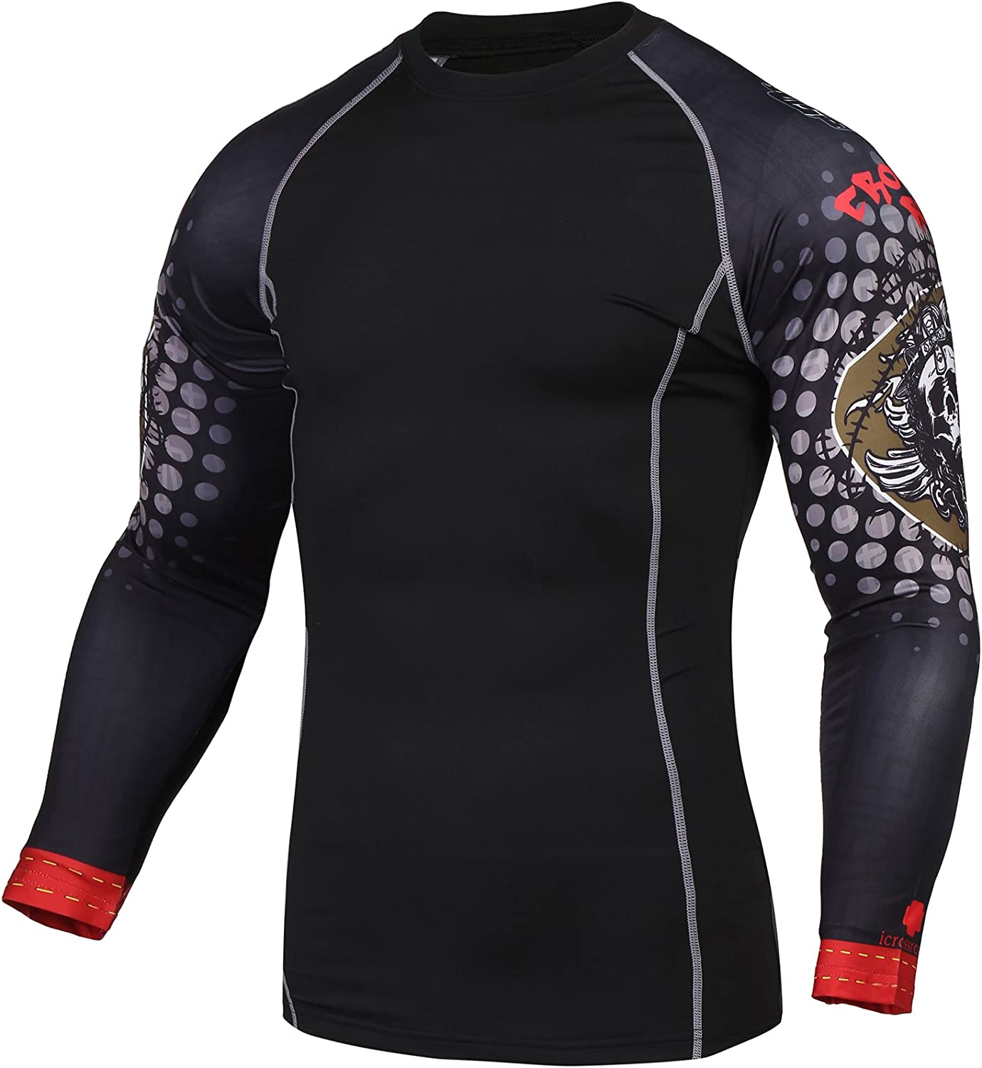 Men/'s Compression Base layer Athletic Tights Workout Gym Training Shirts Dri-fit