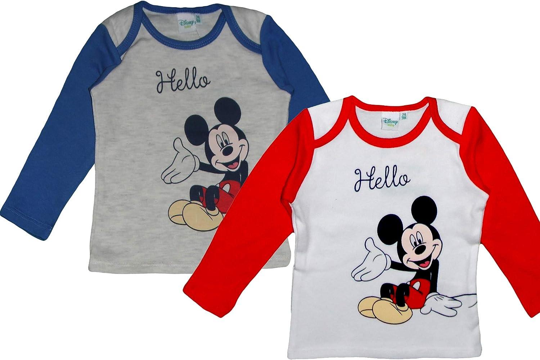 Blau//Rot T-Shirt Blau//Rot Gr Disney Baby Mickey Baby Jungen 0-24 Monate 74 cm 9 Monate