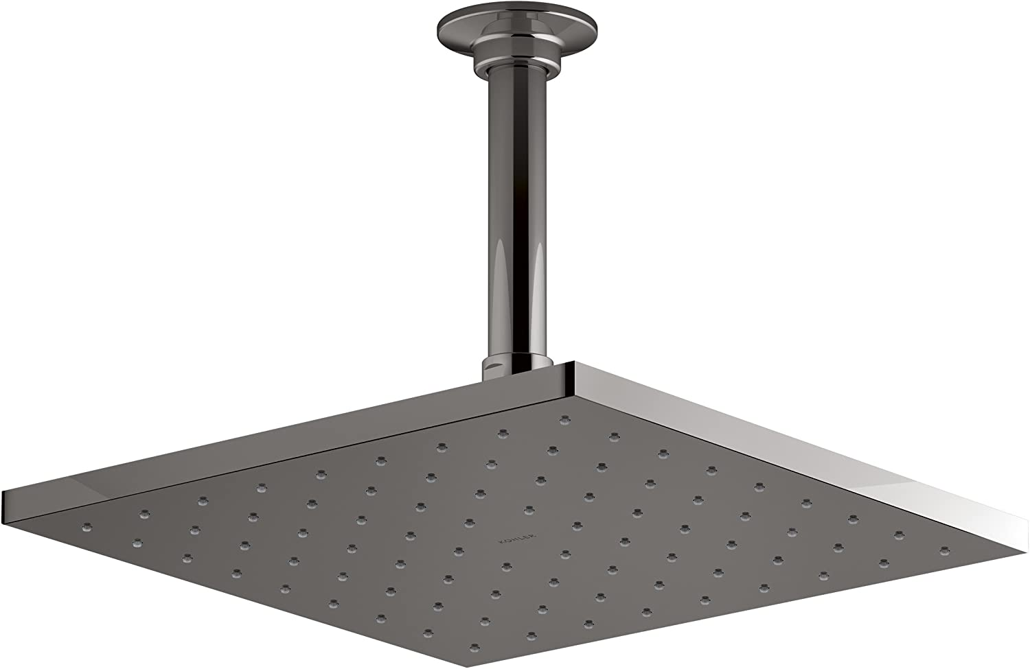 KOHLER 13696-TT Contemporary Square 10 rainhead with Katalyst R air-induction spray, 2.5 gpm, Titanium