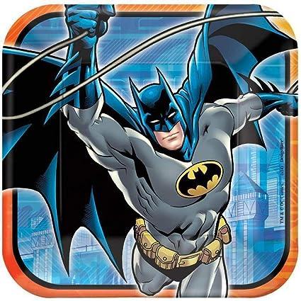 Batman Heroes and Villains Birthday Dessert Plates