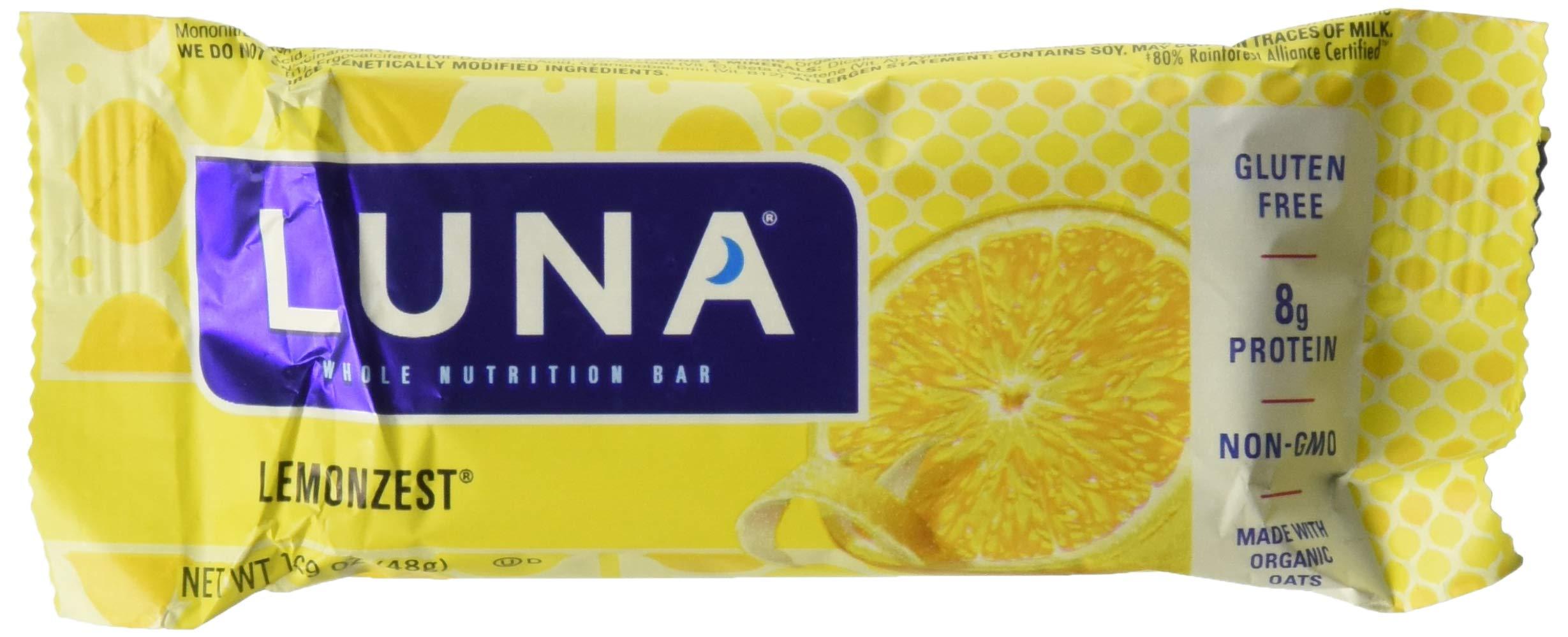 Clif Bar Luna BAR,OG3,Lemon Zest, 1.69 OZ
