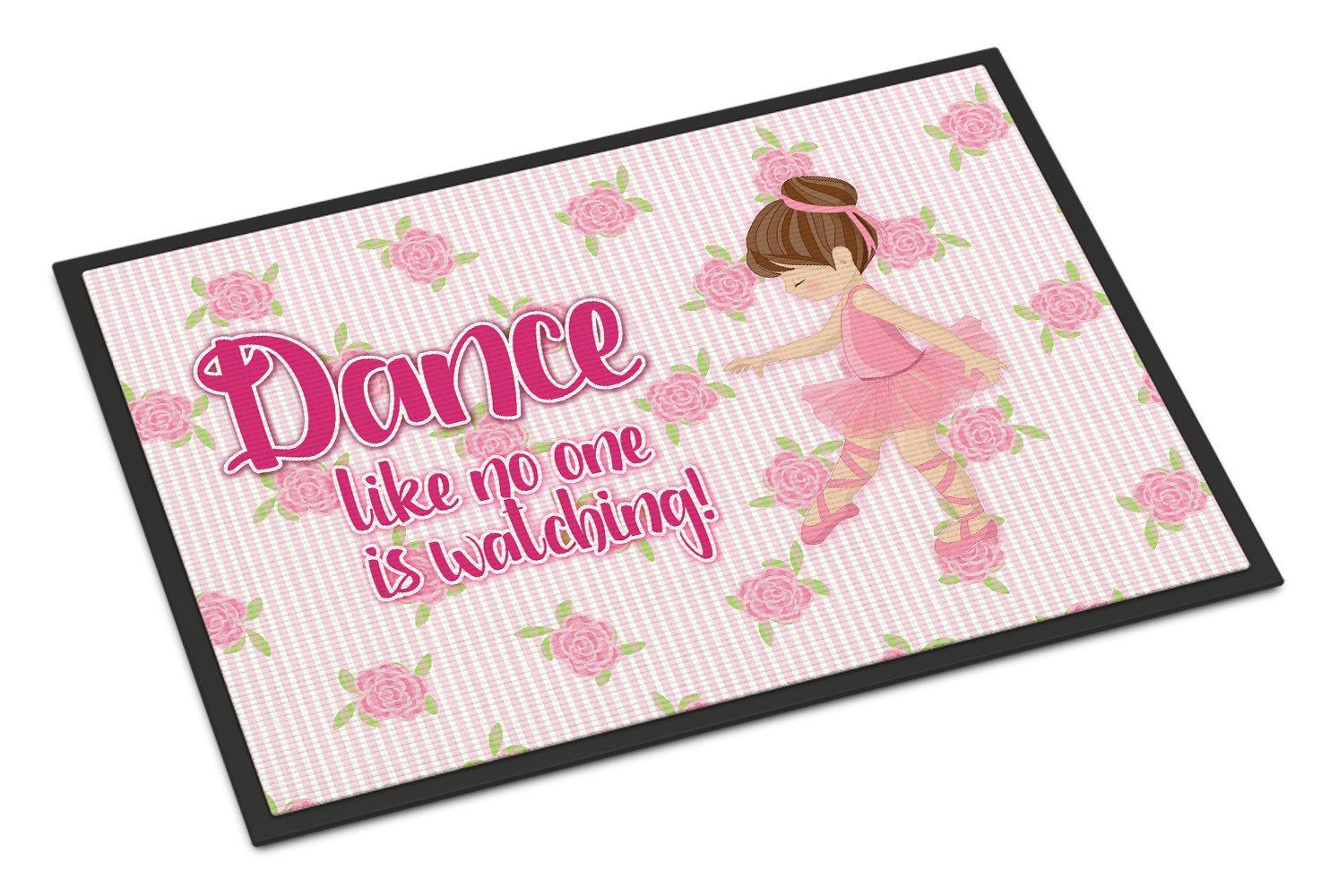Caroline's Treasures Ballet Dance Brunette Doormat, 24 H x 36 W'', Multicolor