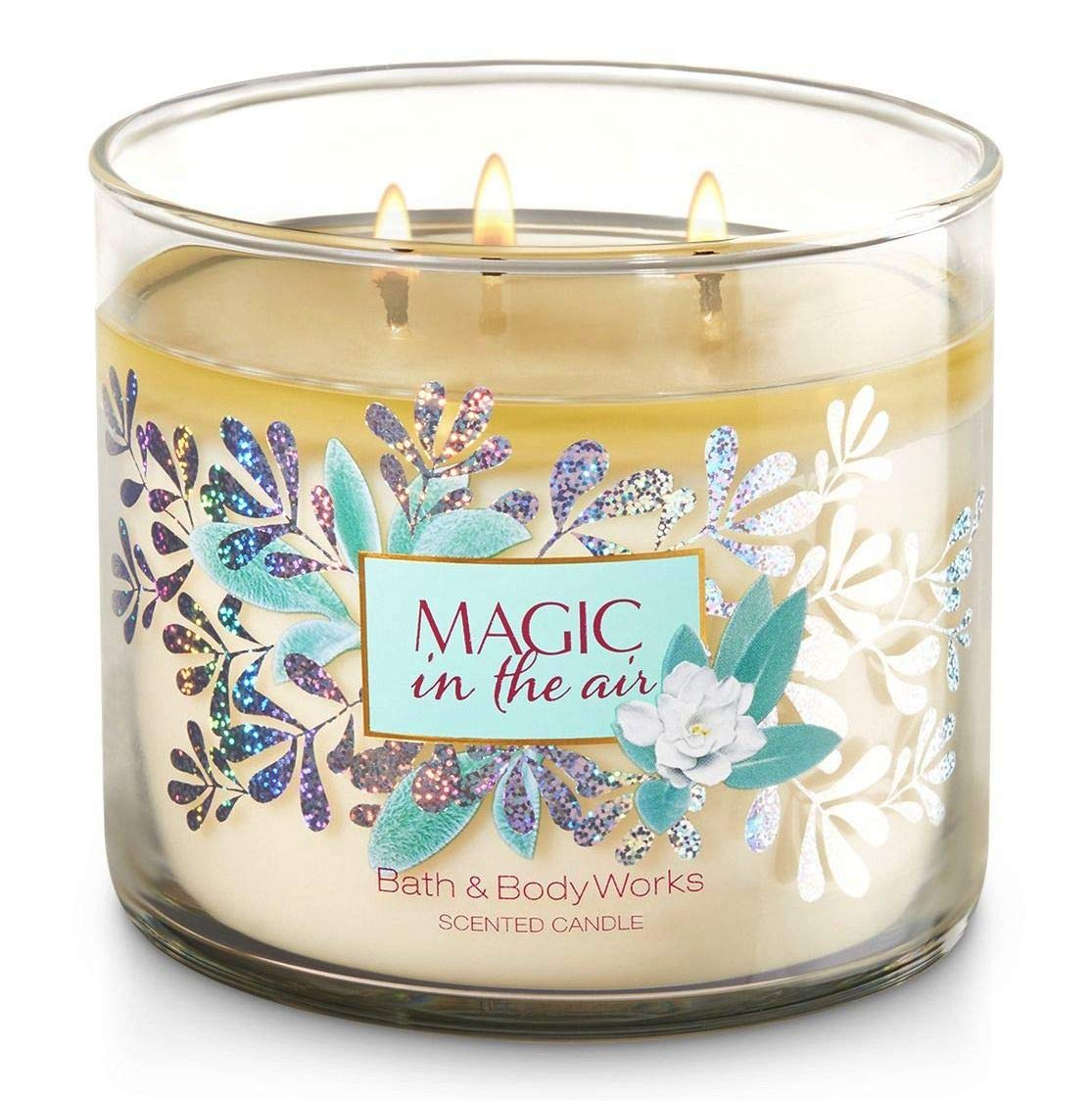 Bath and Body Works White Barn Magic In The Air 3 Wick Candle Jeweled Lid 14.5 Ounce