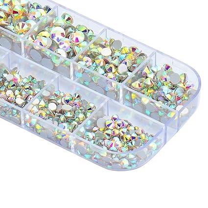 Amazon.com  4200 Pieces Flat Back AB Rhinestones for Craft 7e81c94cf727