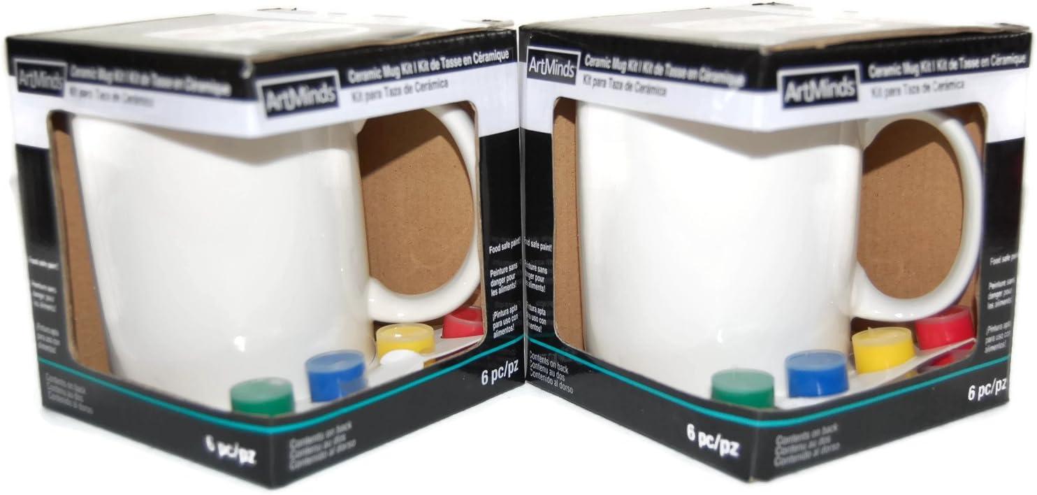 Amazon Com Artminds Ceramic Mug Painting Kit 2 Pack Arts Crafts Sewing